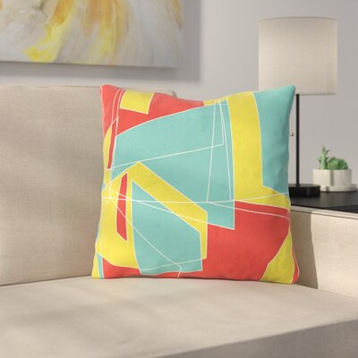Cartagena Walls by MaJoBV Throw Pillow Size: 16 H x 16 W