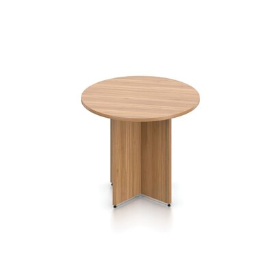 Luminary Series Circular Conference Table Finish: Autumn Walnut, Size: 29.5 H x 48 W x 48 D