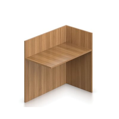 41 H x 42 W Left Desk Return Finish: Autumn Walnut