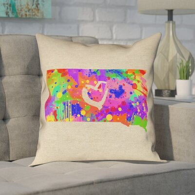 Chaput South Dakota Love Watercolor Pillow
