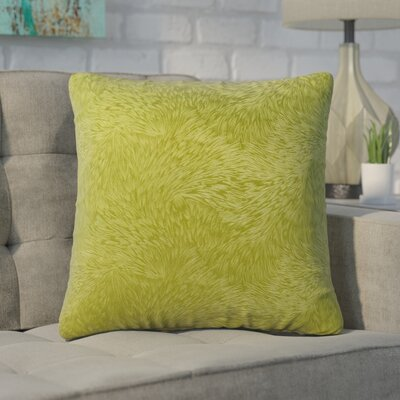 Cottrill Square Throw Pillow Color: Light Green