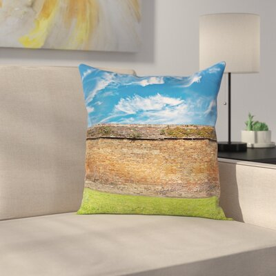 Field Urban Sky Symbol Square Pillow Cover Size: 16 x 16