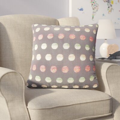 Anthem Polka Dots Throw Pillow Color: Black