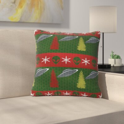 Alias Xmas Files Outdoor Throw Pillow Size: 16 H x 16 W x 5 D