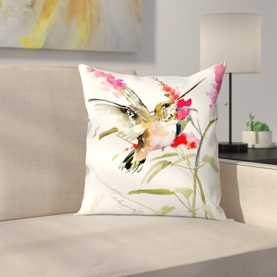 Suren Nersisyan Hummingbird Flyiong 2 Throw Pillow Size: 18 x 18