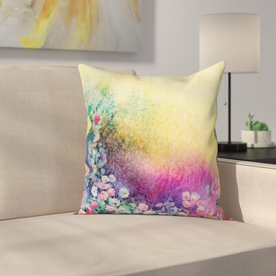 Spring Flowers Ivy Art Square Pillow Cover Size: 24 x 24