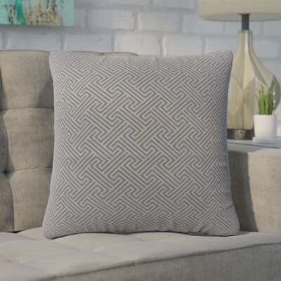 Wyckhoff Geometric Cotton Throw Pillow Color: Brown