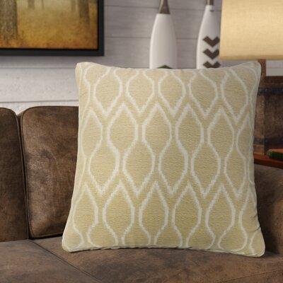 Estelle Contemporary Throw Pillow Color: Beige, Size: 22 x 22