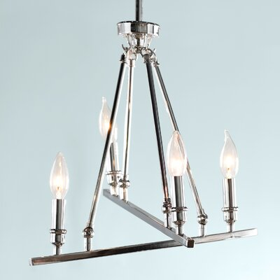 Uman 4-Light Candle-Style Chandelier Finish: Chrome