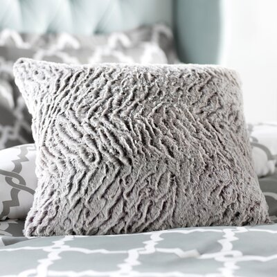 Geremia Throw Pillow Size: 20 H x 20 W x 4 D, Color: Light Gray/Ivory
