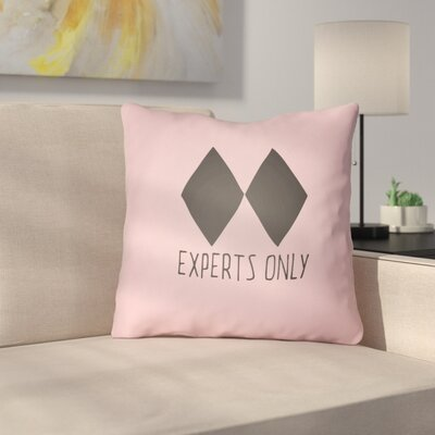 Indoor/Outdoor Throw Pillow Size: 20 H x 20 W x 4 D, Color: Pink