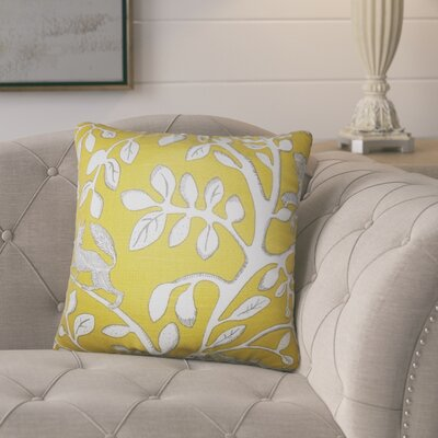 Pontiff Floral Cotton Throw Pillow