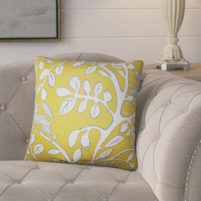 Pontiff Floral Cotton Throw Pillow