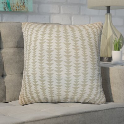 Duerr Geometric Cotton Throw Pillow Cover Size: 18 x 18, Color: Dove