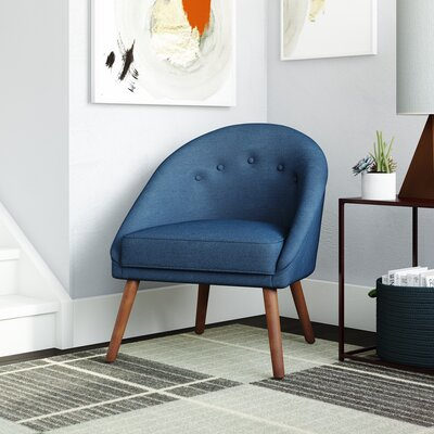 Bernardston Occasional Barrel Chair Upholstery: Cobalt Blue