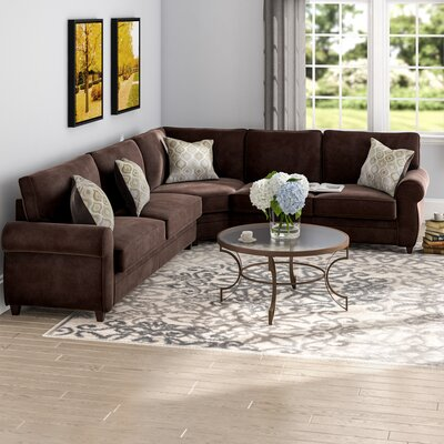 Thornhill Sleeper Sectional Upholstery: Chocolate