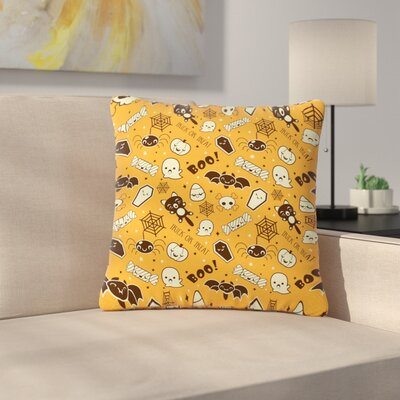All Cute Halloween Pattern Outdoor Throw Pillow Size: 18 H x 18 W x 5 D
