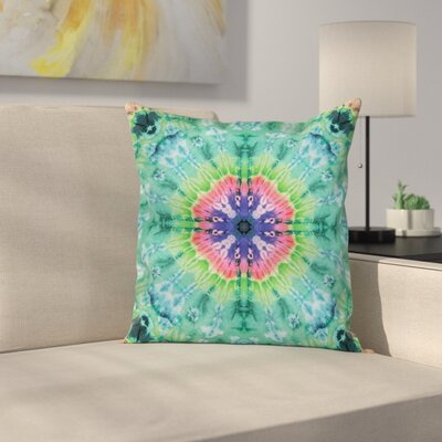 Ombre Art Indigo Square Pillow Cover Size: 18 x 18