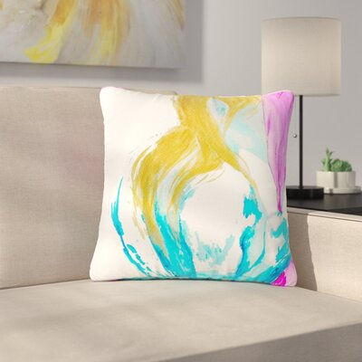 Cecibd Empty People Outdoor Throw Pillow Size: 16 H x 16 W x 5 D