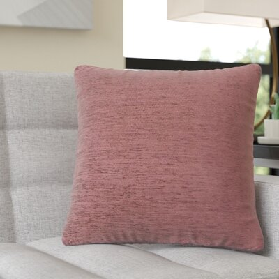Ayre Square Throw Pillow Color: Dusty Rose