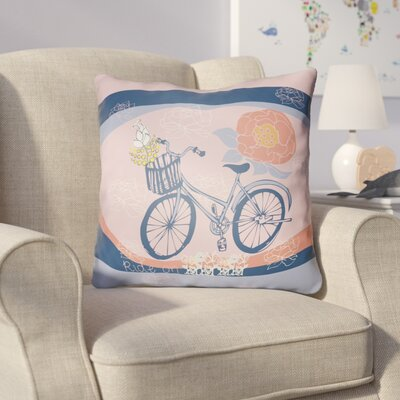 Colindale Bicycle Throw Pillow Size: 22 H �x 22 W x 5 D, Color: Pink