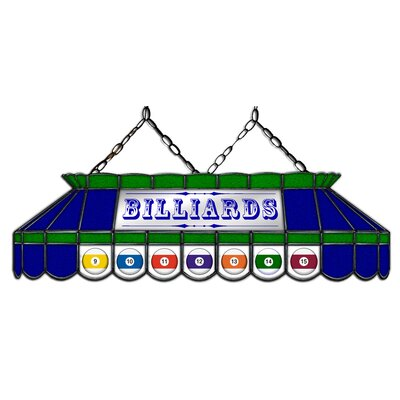 Camacho Billiard 3-Light Pool Table Light Shade Color: Blue/Green