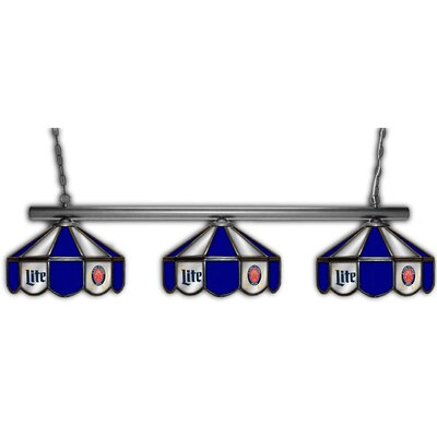Miller Lite 3-Light Pool Table Light