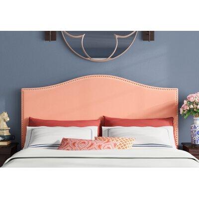 Halvorson Velvet Upholstered Panel Headboard Size: Queen, Upholstery: Papaya