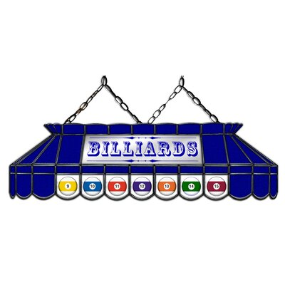Camacho Billiard 3-Light Pool Table Light Shade Color: Blue