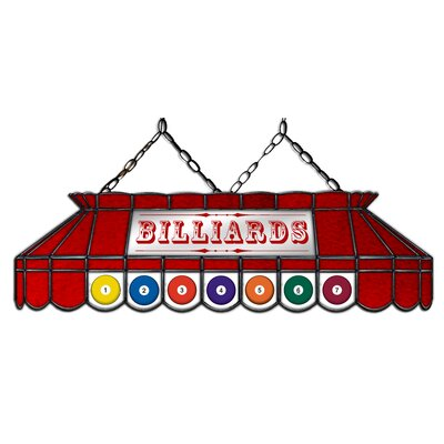 Camacho Billiard 3-Light Pool Table Light Shade Color: Red