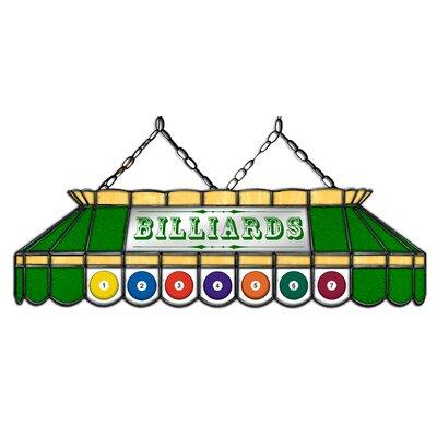 Camacho Billiard 3-Light Pool Table Light Shade Color: Green/Beige