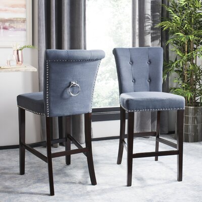 Prater 29.5 Bar Stool Color: Navy