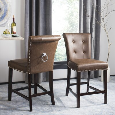 Prater 26 Bar Stool Color: Brown