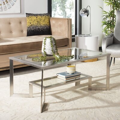 Huling Brushed Glass Top Coffee Table