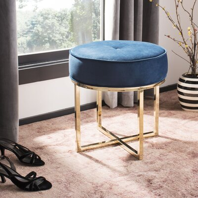 Kittle Round Ottoman Color: Navy
