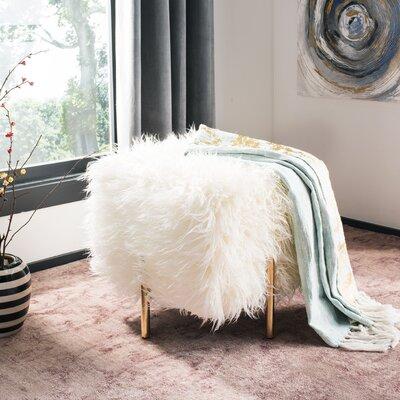 Kistner Faux Fur Ottoman