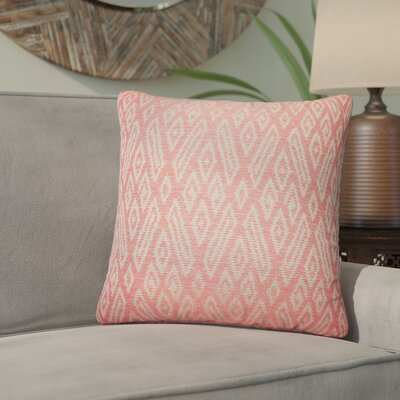 Zakary Ikat Cotton Throw Pillow Color: Cayenne