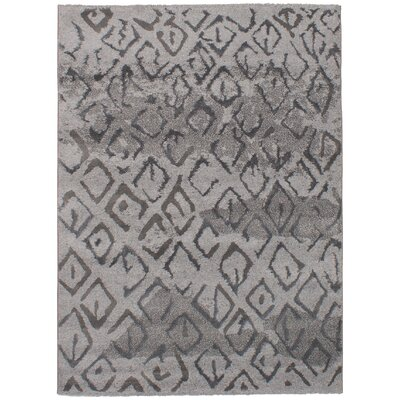 Linden Boulevard Gray/Orange Area Rug