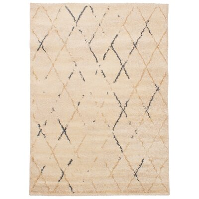 Beige Area Rug Size: 55 x 78