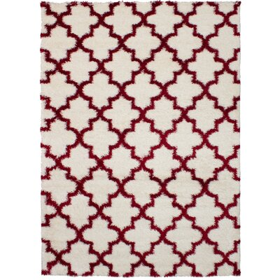 Creager Cream/Red Area Rug