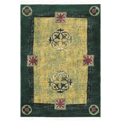 Green/Light Gold Area Rug