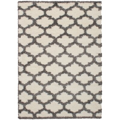 James Cream/Dark Gray Area Rug