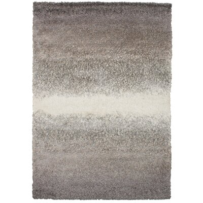 Crim Yeti Salt and Pepper Shag Gray Area Rug