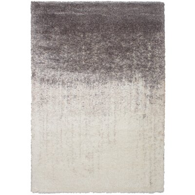 Crim Cream/Grey Shag Area Rug