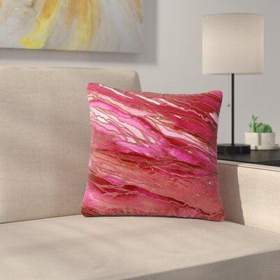 Agate Magic Throw Pillow Size: 18 H x 18 W x 6 D, Color: Hot Pink / Red