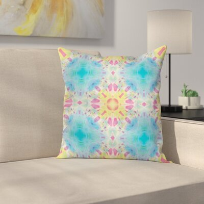 Fabric Kaleidoscopic Design Square Pillow Cover Size: 18 x 18