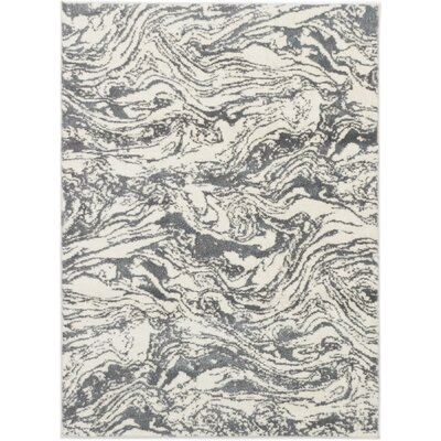 Jolene Cream/Dark Gray Area Rug