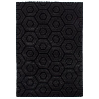 Clack Black Area Rug