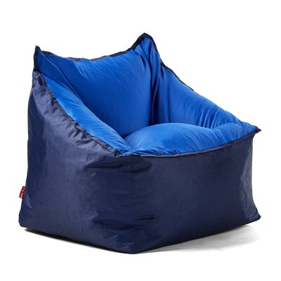 Big Joe Slalom Bean Bag Chair Upholstery: Navy/Blue