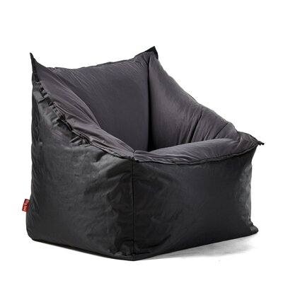 Big Joe Slalom Bean Bag Chair Upholstery: Black/Gray
